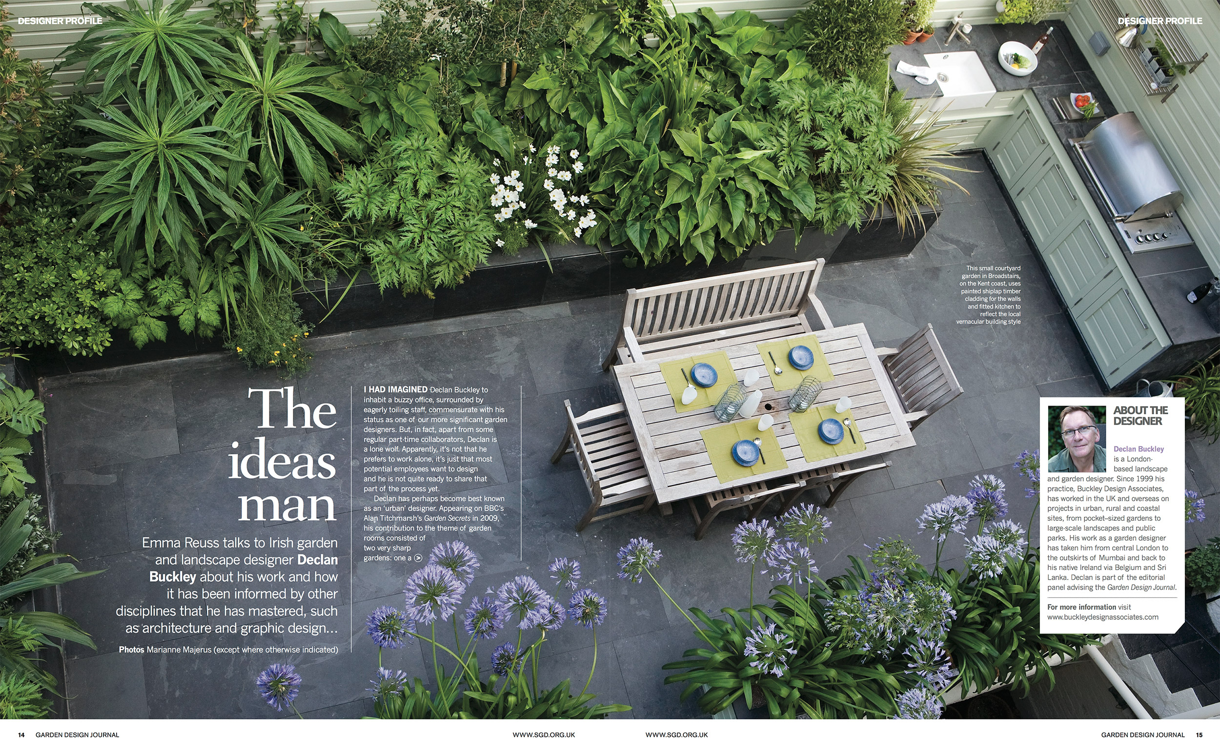 garden design journal feature buckley design buckley design