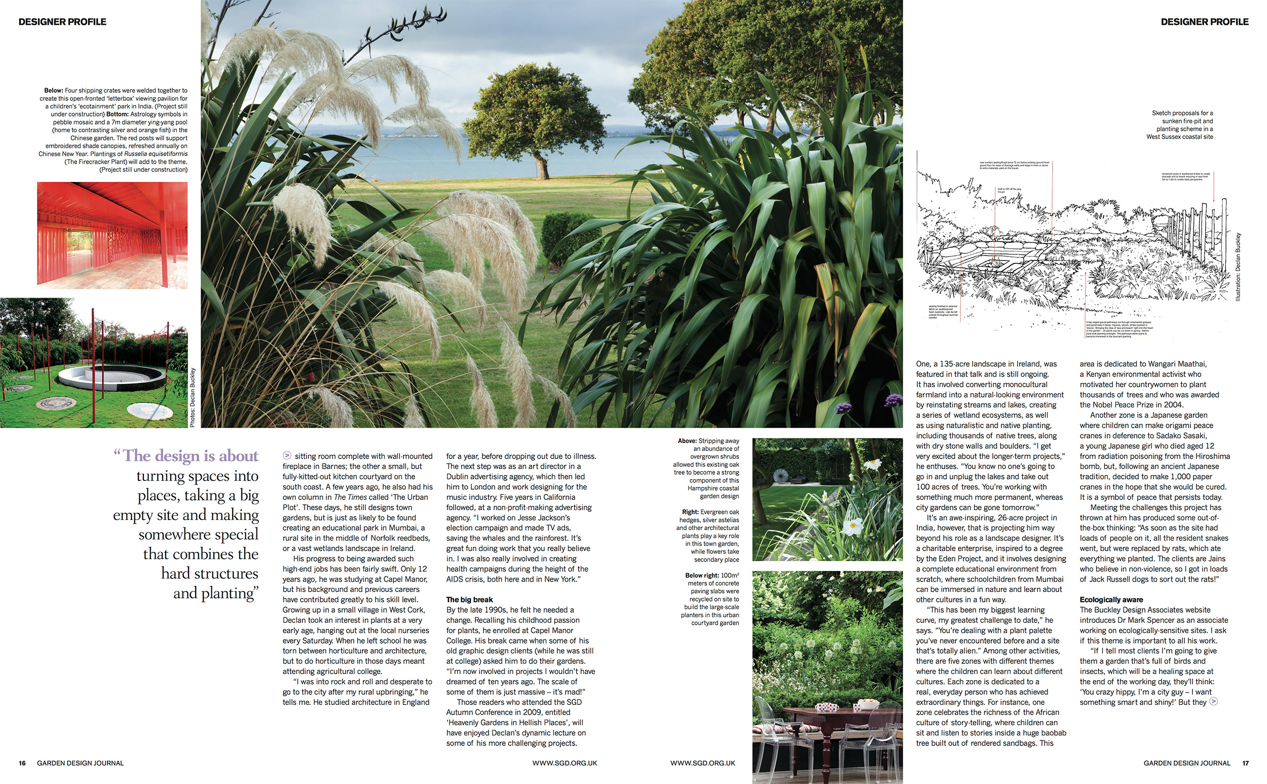garden design journal feature buckley design buckley design