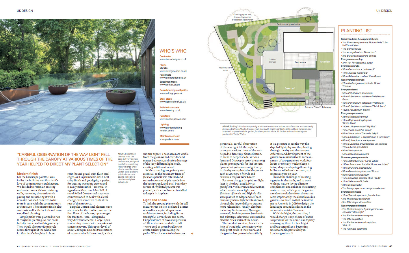 garden design journal - buckley design associates